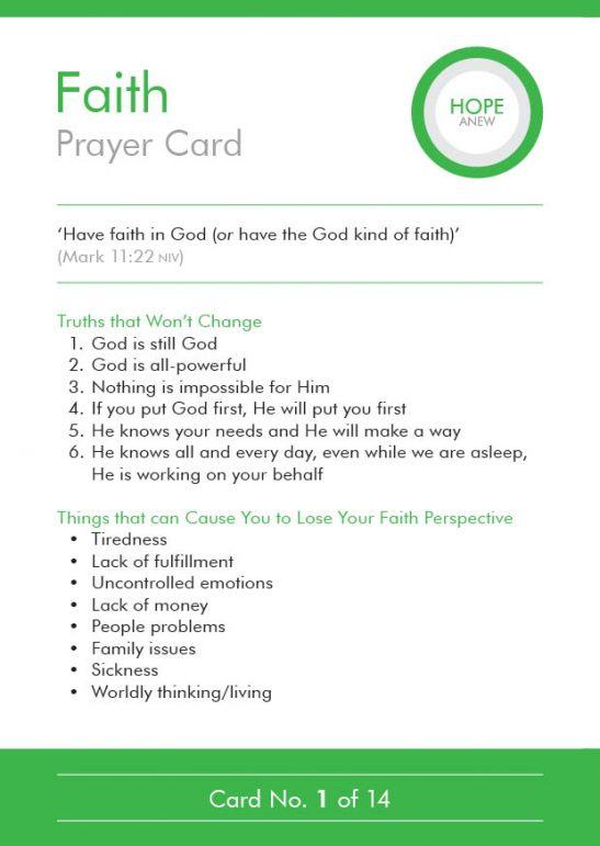 Hope Anew Prayer Cards